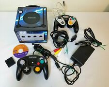 NINTENDO GAMECUBE DOL-101 ~ 2 CONTROLLERS, ADAPTER CABLES MEM CARD DISC UNTESTED