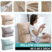 18'' Wedge Back Pillow Rest Sleep Neck Home Sofa Bed Lumbar Office Cushion US