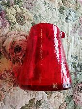 Red glass pitcher cup pourer