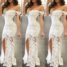 Elegant Women's Boob Tube Top Off Shoulder Long Dress Ladies Bodycon Maxi Dress