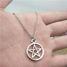 pentagram wicca silver Necklace pendants fashion jewelry accessory,creative Gift