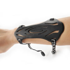 2 Strap Sport Arm Guard Archery Accessory Black Soft Rubber Shooting Protection
