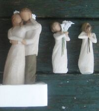 3 Willow Tree Figurines Together & Friendship & Beautiful Wishes Susan Lordi