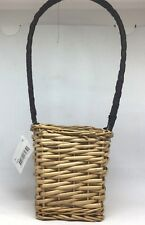 Woven wicker basket with bamboo handle *Small*