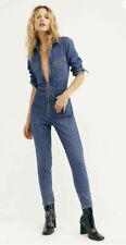 Free People Lennox Denim Blue Jumpsuit Size XS 6 New with Tags
