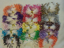 1500 MIX Pearl Double Tips Floral Stamens DIY Cake Craft Wedding Scrapbook Decor
