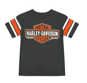 Harley-Davidson Boys Black Bar & Shield Interlock Short Sleeve Tee 1070923