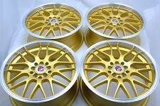 17 gold Wheels Rims Corolla Sonata Celica Prius Matrix Civic Camry 5x100 5x114.3
