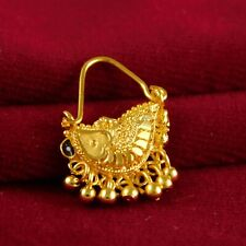 Nose Rings Women Traditional Nath Jewelry 18K Micron Gold Plated Indian Wedding