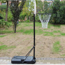 Adjustable Outdoor Basketball Hoop Stand Kids Junior Game Sports Portable  Wheels