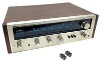 Vintage Pioneer SX-424 AM/FM Stereo Receiver Wood Case w/Speaker Connectors READ