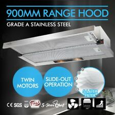 Stainless Steel Slide Out Rangehood Exaust Extractor Kitchen Canopy 90cm 900mm