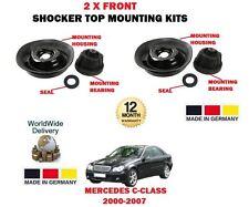 FOR MERCEDES C180 C200 C230 C240 C280 K 2000- NEW 2x FRONT SHOCKER TOP MOUNTINGS