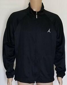 Men's Nike Air Jordan Jumpman Full Zip L/S Mesh Track Jacket Black Size Medium M