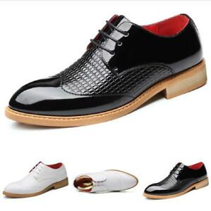 Men Dress Formal Business Leisure Shoes Wedding Oxfords Shiny Pointy Toe Party L