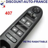 commande bouton interrupteur leve vitre Peugeot 407   96468704XT -   6554ER