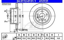 ATE Juego de 2 discos freno 286mm para OPEL OMEGA VAUXHALL 24.0112-0131.1