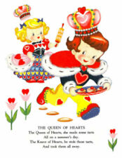 Vintage Image Shabby Retro Queen Of Hearts Storybook Waterslide Decals Kid638
