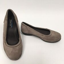 Skechers Relaxed Fit Memory Foam Taupe Suede Ballerinas Size UK 5 Slip On Shoes