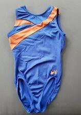 GK Elite Adult XS Gymnastics Leotard Blue Orange