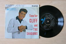 "CLIFF RICHARD Time For Cliff And The Shadows UK 7"" EP Columbia SEG 8228 1962"