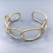 Bohemian Gold Finished Simple Chain Style Trendy Cuff Bangle Bracelet