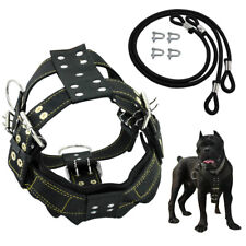 Heavy Duty Dog Weight Pulling Harness Adjustable Medium Large Vest Pitbull Black