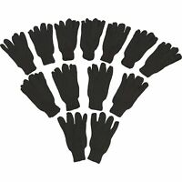 Ironton Men's Jersey Work Gloves- 12 Pairs, Black, Large, Model# 65090IR-12U