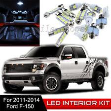 10pcs Interior LED Light Bulbs Package Kit for 2011-2014 Ford F150 Raptor White