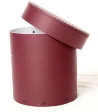1x Deep purple decorative round hat box for flowers Home Decor Gift M