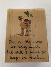 Vtg ~ Embossing Arts Co. 1998 ~ I'm on the Move #180-F ~ Rubber Stamp Brand New!