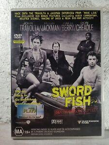 Swordfish (DVD, 2001) - John Travolta - Hugh Jackman ACTION MOVIE, R4 AU/NZ