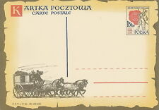Poland prepaid postcard (Cp 159) 400 years of Polish Post