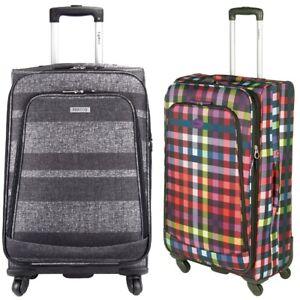 Highbury Luxury 4 Wheel Expandable Spinner Trolley Luggage Cases