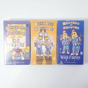 Bananas in Pyjamas 3 x VHS Movie Lot Video Free Postage PAL AUS Kids Cartoon
