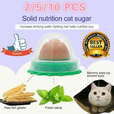 10× Cat Treats Kitty Chups' Healthy Cat Snacks Catnip Sugar Candy Energy Ball US
