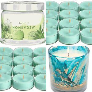 PartyLite ~ Jar Candle & 24 Tealights Gift Set ~ HONEYDEW ~ New Fragrance 🌸