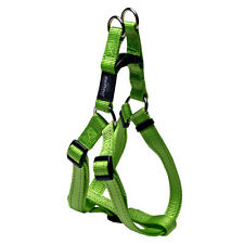 Rogz Lime-Step in Harness-Fanbelt-Large