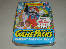 TOPPS NINTENDO GAME PACKS WAX BOX SCRATCH OFF CARDS SET PACKS MARIO ZELDA 1989