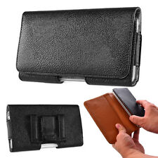 Black Leather Belt Clip Holster Pouch Carrying Case For Samsung Galaxy Note 4