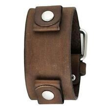 Nemesis Classy Faded Brown Leather Watch Cuff Band FBNB Vintage 22mm Genuine
