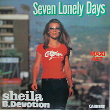 """Sheila B. Devotion – Seven Lonely Days 12"""" Maxi  ,MINT-,cleaned, Carrere 8036"""