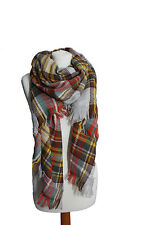 Womens Chunky Oversized Blanket/Poncho/Shawl/Wrap/Pashmina/Scarf/Burns Night