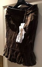 New wIth Tags ROBERTA SCARPA RRP 350 GBP-Gorgeous ladies velvet skirt brown