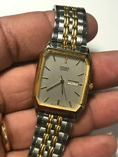 Men's Dual Tone Citizen 1000-863871 Analog Watch With Day And Date Feature