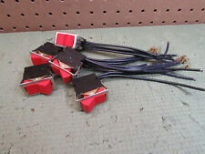 (5) VINTAGE RETRO RED ROCKER PANEL SWITCH AUTOMOTIVE INDUSTRIAL ON/OFF