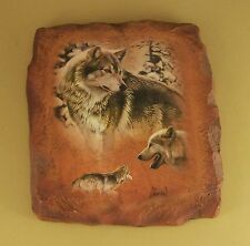 Guardians of the Earth Eternal Endurance Wolf Plate Al Agnew #3 Plaque Mib + Coa