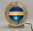 VTG 1961 Schlitz Beer Sign Water Shimmer Back Bar Clock w/Spinning Light Works!