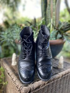 vagabond boots 37 Black Brogues Amazing Leather Condition 10/10
