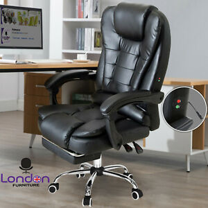 Massage Computer Chair Office Home Gaming Swivel Recliner Leather Executive UK